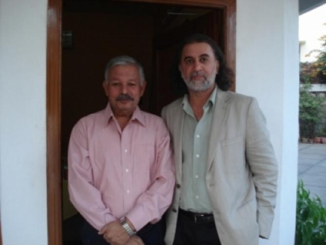 captain with tarun tejpal